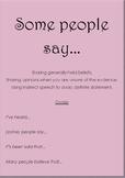 TEFL language patterns - gossip and rumours