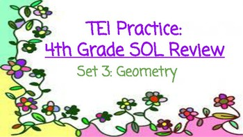 TEI 4th Grade Math SOL Task Cards: Geometry