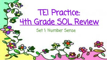 TEI 4th Grade Math SOL Task Cards: Number Sense