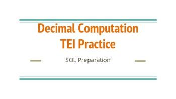 TEI Decimal Computation Task Cards