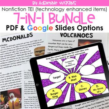 TEI Nonfiction Passage Bundle (PDF & Google Classroom) Distance Learning