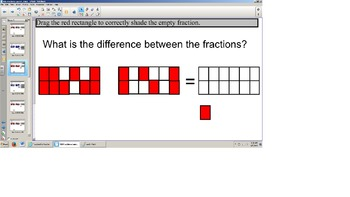 TEI SOL 3rd Grade Adding and Subtracting Fraction Models Smart Board