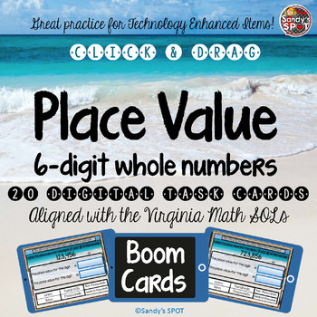 TEI Technology Enhanced Item DIGITAL Practice PLACE VALUE 6 DIGIT WHOLE NUMBERS