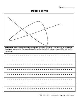 TEKS 1.18A Doodle Writing - Work on Writing Printable
