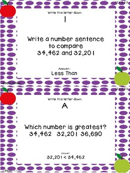 Compare and Order Numbers up to 100,000