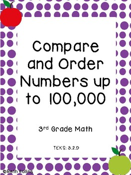 TEK 3.2.D Compare and Order Numbers up to 100,000 Scavenger Hunt