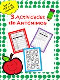 TEK 3.4B and 4.2 B: Antónimos / Antonyms in Spanish