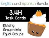 TEK: 3.4H - Dividing Groups into Equal Shares - ENGLISH AND SPANISH BUNDLE