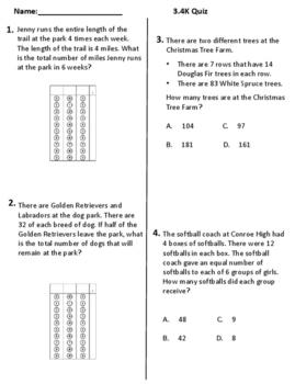3.4K Rigorous Quiz of Multi-Step Multiplication & Division Word Problems