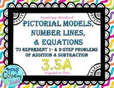 TEK 3.5A Models, Number Lines, & Equations Task Cards