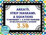 TEK 3.5B - Arrays, Strip Diagrams, & Equations (Multip/Div) Task Cards