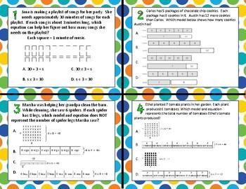 TEK 3.5B - Arrays, Strip Diagrams, & Equations (Multip/Div) Task Cards