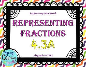 TEK 4.3A Representing Fractions task cards