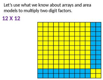 TEK 4.4D Multiplication 2 & 3 digit factors Entire Lesson with Exit tickets