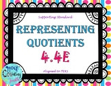 TEK 4.4E Representing Quotients task cards