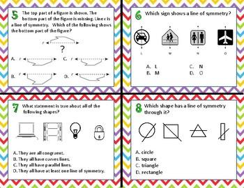 TEK 4.6B Lines of Symmetry task cards