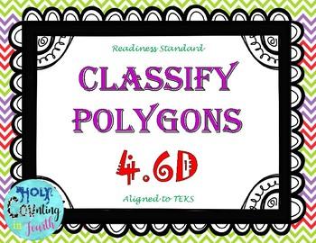 TEK 4.6D Classify Polygons task cards