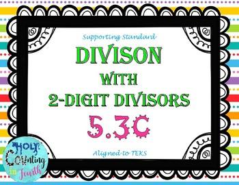 TEK 5.3C Division with 2-digit Divisors task cards