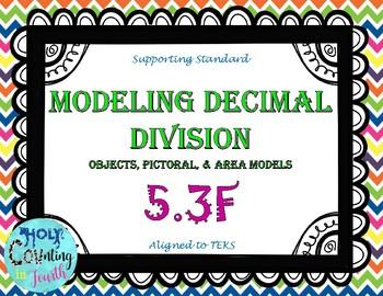 TEK 5.3F Modeling Decimal Division task cards