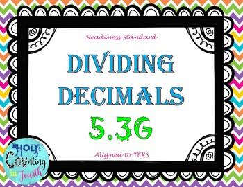TEK 5.3G Dividing Decimals task cards