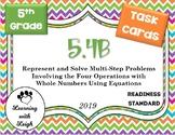 Math TEK 5.4B Represent & Solve Multi-Step Problems Using Equations Task Cards