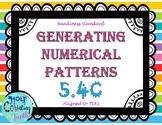 TEK 5.4C Generating Numerical Patterns task cards