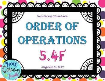 TEK 5.4F Order of Operations task cards