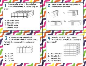 TEK 5.6B Volume of Rectangular Prisms task cards