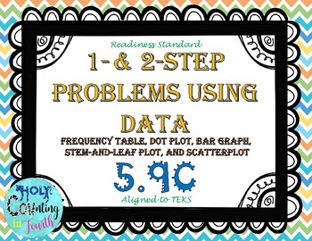 TEK 5.9C Solving Problems Using Data task cards