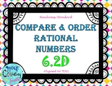 TEK 6.2D Compare and Order Rational Numbers task cards