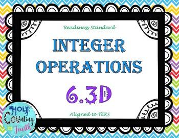 TEK 6.3D Integer Operations task cards