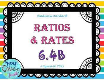 TEK 6.4B Ratios & Rates task cards