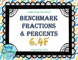 TEK 6.4F Benchmark Fractions & Percents task cards