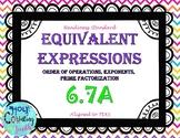 TEK 6.7A Equivalent Expressions task cards