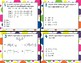 TEK 6.7D Properties of Operations task cards