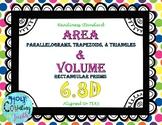 TEK 6.8D Area & Volume task cards