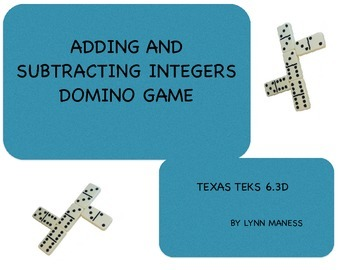TEK 6.3D adding and subtracting integers game