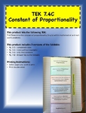 TEK 7.4C Constant of Proportionality Foldable