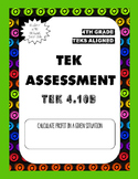 TEK Assessment 4.10B - Calculating Profit