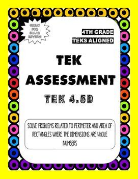 TEK Assessment 4.5D - Perimeter and Area Problems