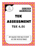 TEK Assessment 4.6C - Acute, Obtuse, and Right Triangles