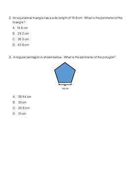 TEK Assessment 5.4H Solving Problems with Area, Perimeter and Volume