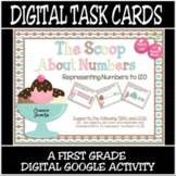 TEKS 1.2C / Distance Learning Digital Task Cards / Represe