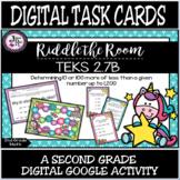 TEKS 2.7B / Digital Task Cards / 10 or 100 More or Less /