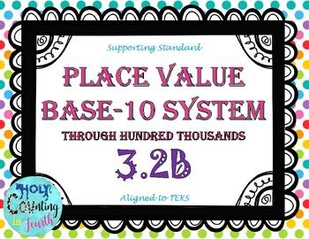 TEKS 3.2B Place Value Base-10 System task cards