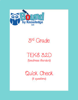 TEKS 3.2D STAAR Quick Check