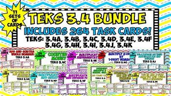 TEKS 3.4 BUNDLE -264 Task Cards