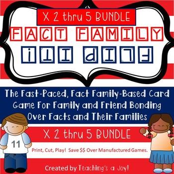 TEKS 3.4F  Fact Family Flip It! 2's, 3's, 4's, 5's
