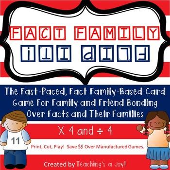 TEKS 3.4F  Fact Family Flip It! 4's