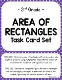 TEKS 3.6C, 3.6D Area of Rectangles Task Card Set